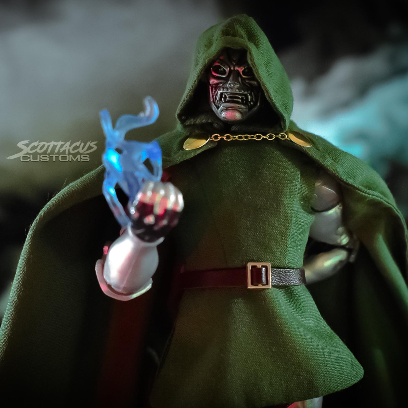 No Figure Doom Green Outfit Set for Marvel Legends Dr