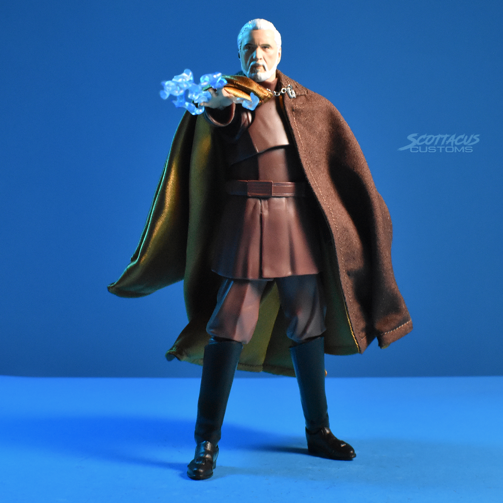 Brown Cape for SHF Star Wars Dooku No Figure
